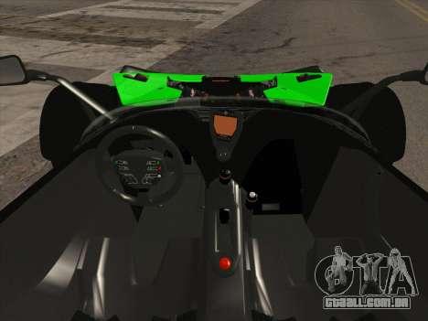 KTM Xbow R para GTA San Andreas vista traseira