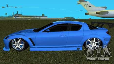 Mazda RX8 Type 1 para GTA Vice City vista traseira