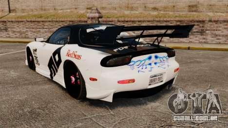 Mazda RX-7 para GTA 4 traseira esquerda vista