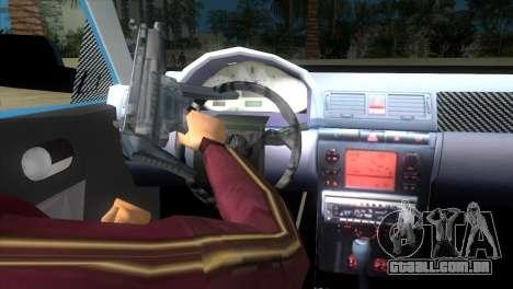 Seat Ibiza GT para GTA Vice City vista traseira esquerda