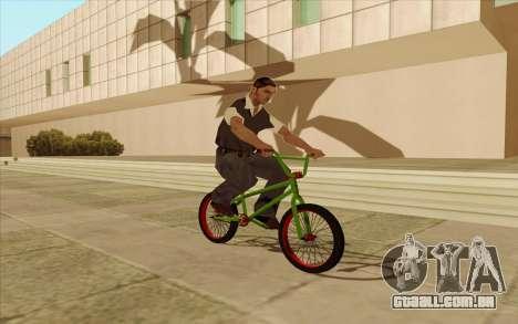 BMX para GTA San Andreas vista traseira