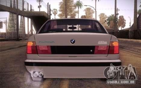BMW E34 Alpina para GTA San Andreas vista traseira