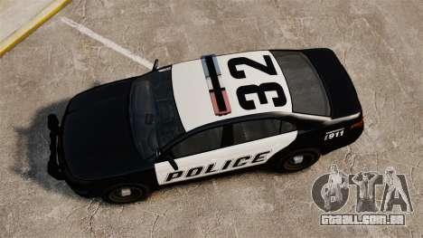 GTA V Vapid Police Interceptor [ELS] para GTA 4 vista direita