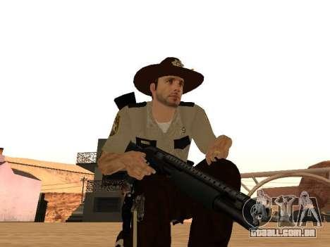 Rick Grimes para GTA San Andreas sexta tela
