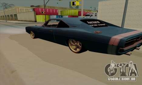 Dodge Charger 1969 Big Muscle para GTA San Andreas vista direita