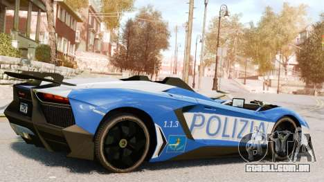 Lamborghini Aventador J Police para GTA 4 esquerda vista