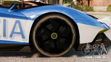 Lamborghini Aventador J Police para GTA 4 vista de volta