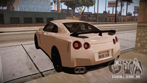 Nissan GT-R SpecV Ultimate Edition para GTA San Andreas vista interior