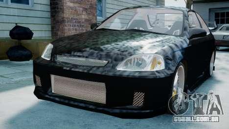 Honda Civic FnF para GTA 4 traseira esquerda vista