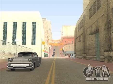 Reflexão única de ENB em máquinas para GTA San Andreas por diante tela