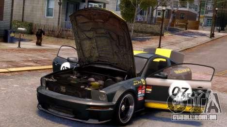 Shelby Terlingua Mustang para GTA 4 interior