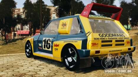 MG Metro 6r4 para GTA 4 esquerda vista