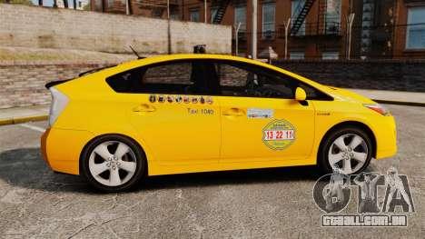 Toyota Prius 2011 Adelaide Independant Taxi para GTA 4 esquerda vista