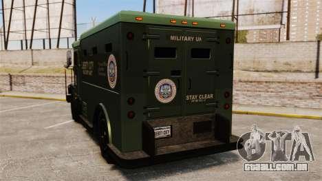 Military Enforcer para GTA 4 traseira esquerda vista