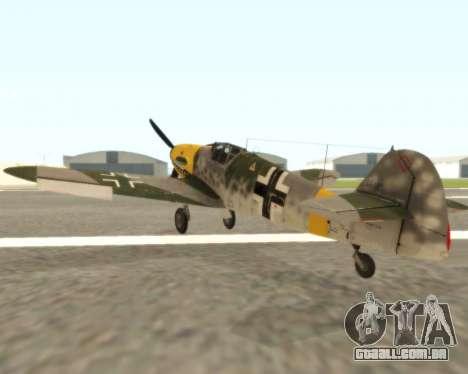 Bf-109 G6 v1.0 para GTA San Andreas vista direita