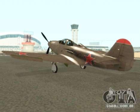 Aircobra P-39N para GTA San Andreas vista direita
