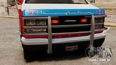 Ambulância iraniana para GTA 4 vista direita