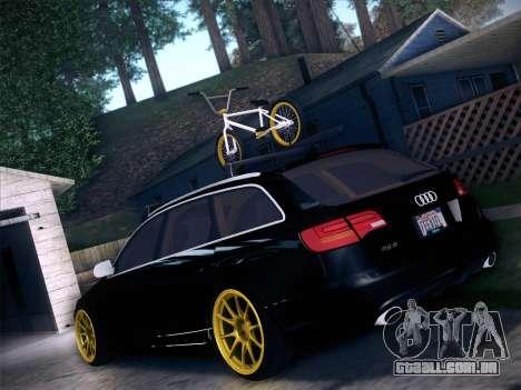 Audi Avant RS6 LowStance para GTA San Andreas traseira esquerda vista