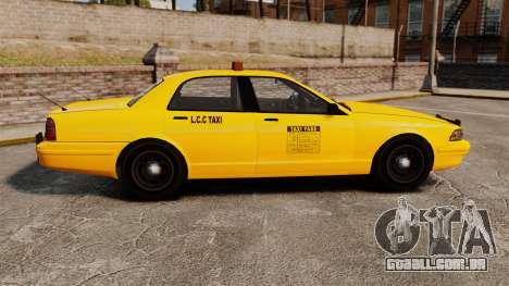 GTA V Gen Vapid LCC Taxi para GTA 4 esquerda vista