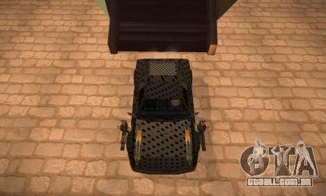 Cheetah Zomby Apocalypse para GTA San Andreas traseira esquerda vista
