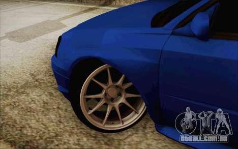 Subaru Impreza JDM para GTA San Andreas esquerda vista
