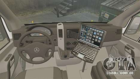 Mercedes-Benz Sprinter 2500 Prisoner Transport para GTA 4 vista de volta