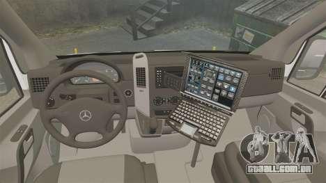 Mercedes-Benz Sprinter 2500 Prisoner Transport para GTA 4 vista de volta