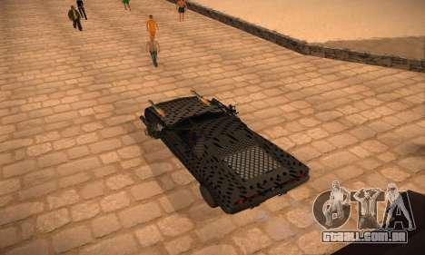 Cheetah Zomby Apocalypse para GTA San Andreas esquerda vista
