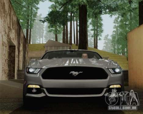 Ford Mustang GT 2015 para GTA San Andreas vista superior