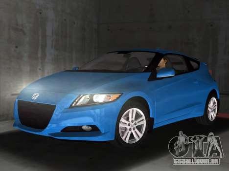 Honda CR-Z 2010 para GTA Vice City deixou vista