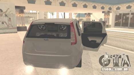 Ford Fiesta Rocam Edit para GTA San Andreas vista direita