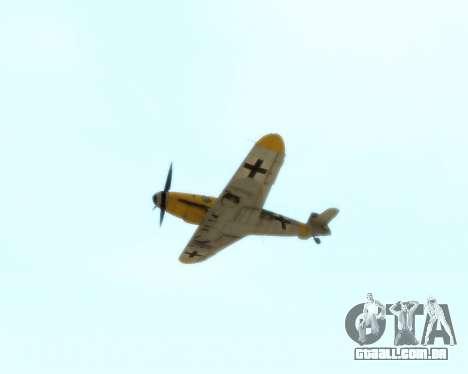 Bf-109 G6 v1.0 para GTA San Andreas vista interior