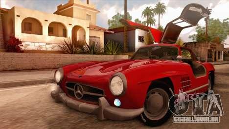 Mercedes-Benz 300SL Gullwing para GTA San Andreas vista interior