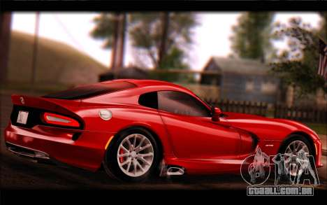 SRT Viper Autovista para GTA San Andreas vista direita