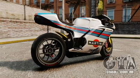 Ducati 848 Martini para GTA 4 esquerda vista