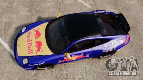 Porsche 911 Sport Classic 2010 Red Bull para GTA 4 vista direita