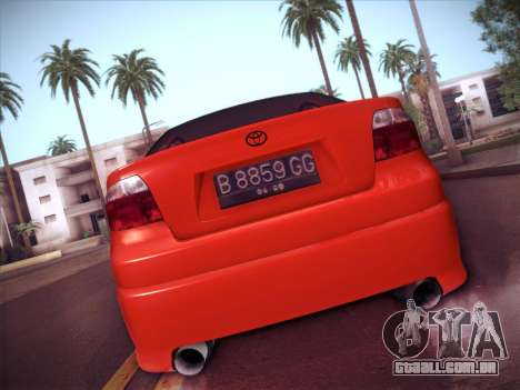 Toyota Vios Modified Indonesia para GTA San Andreas vista traseira