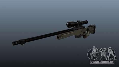Rifle de sniper AI Arctic Warfare polícia para GTA 4