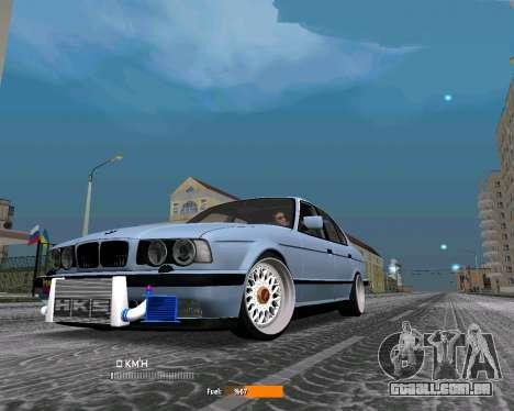 BMW E34 JDM para GTA San Andreas esquerda vista