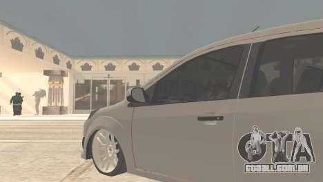 Ford Fiesta Rocam Edit para GTA San Andreas traseira esquerda vista