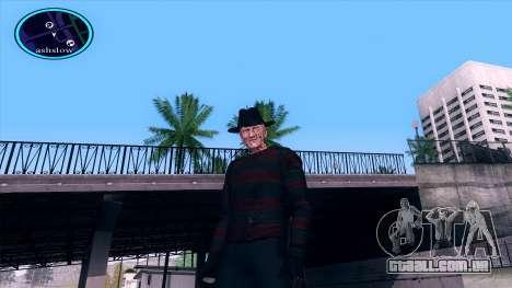 Freddy Krueger para GTA San Andreas por diante tela