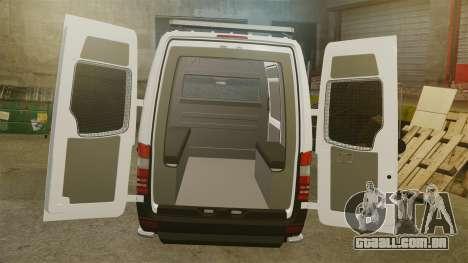 Mercedes-Benz Sprinter 2500 Prisoner Transport para GTA 4 vista lateral