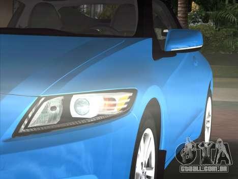 Honda CR-Z 2010 para GTA Vice City vista traseira