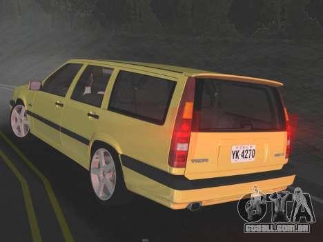 Volvo 850 R Estate para GTA Vice City vista direita