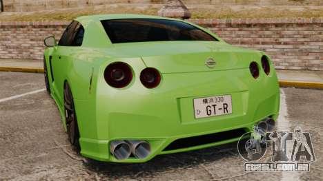Nissan GT-R SpecV 2010 para GTA 4 traseira esquerda vista