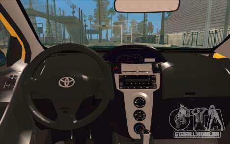 Toyota Vios 2008 para GTA San Andreas vista traseira