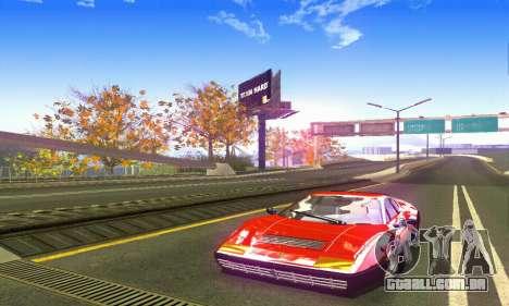 Ferrari 512 BB para GTA San Andreas traseira esquerda vista