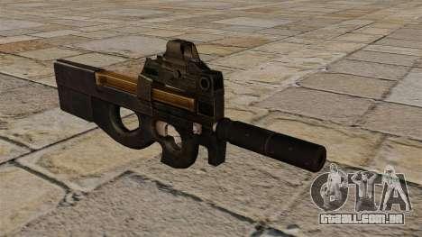 Nova pistola-metralhadora P90 para GTA 4