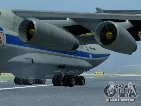 Il-76td v 1.0 para GTA San Andreas traseira esquerda vista