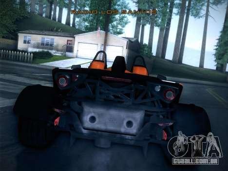 KTM Xbow R para GTA San Andreas traseira esquerda vista